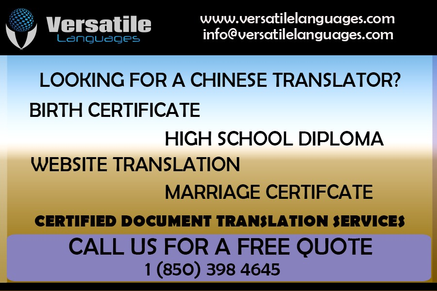 Best chinese certified translation services in USA