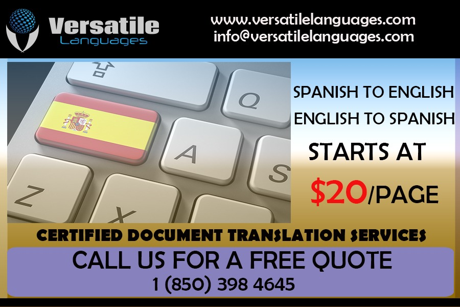 English to Spanish Certified Translation Services